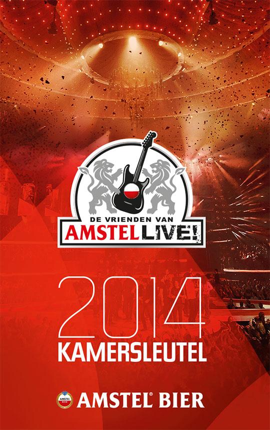 Amstel Live - sleutelkaart